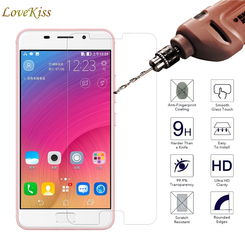 9H 2.5D 0.26mm Premium Tempered Glass For Asus Zenfone 3s Max ZC521TL Screen Protector Toughened Protective Guard Cover Film