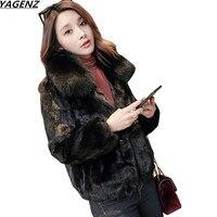 2017 зимняя куртка Для женщин искусственной норки волос лисий Мех животных пальто короткое пальто плюс Размеры женская одежда Высокое качест