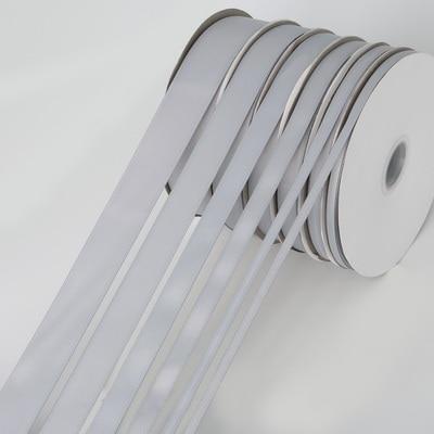 5 ярдов/рулон корсажные атласные ленты для свадьбы, украшения для рождественской вечеринки, самодельные ленты для поделок, открыток, подарочных упаковочных принадлежностей - Color: Grey