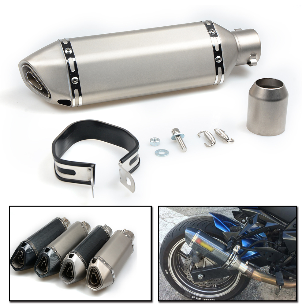 Фотография Universal Modified Motorcycle Exhaust Pipe Muffler For Yamaha YZF600R YZF R125 R25 R3 R6 R1 YBR 125 MT 03 25 07 FZ6 T MAX XMAX