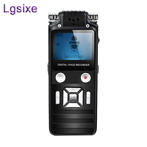 Lgsixe 8GB Dictaphone Audio Sound Recorder MP3 Player Digital Voice Recorder Pen Portable Rechargeable Dictaphone