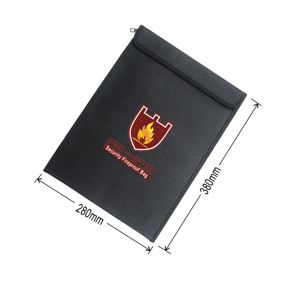 Fireproof Document Fire Resistant Pouch Document Waterproof Bag for Money Safe Document bag new A30