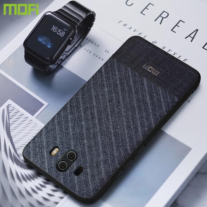 Pour Huawei Compagnon 10 Pro Cas Pour Huawei Compagnon 10 Cas Couverture Mofi Tissu Tissus Mate10 Pro Cas D'affaires Doux couverture arrière Mt10 Pro