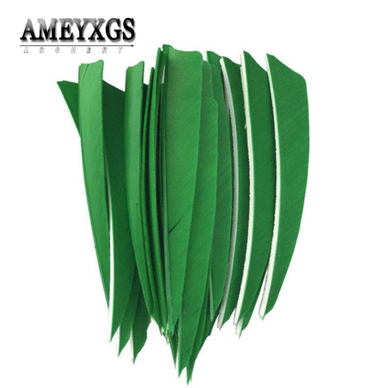 "50pcs 2.5/""  Hunting Arrow Fletching Right Turkey Feather Handmade 5 Colors"