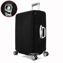 hot deal buy stretch suitcase protective covers for 18-28 inch trolley suitcase solid travel luggage bag dust cover travel accessories