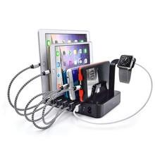 2017 new 6 Port USB Hub Charger Charging Dock Station Stand 60W for Tablet & cellPhone iPad Power Bank EU plug /US plug/UK plug