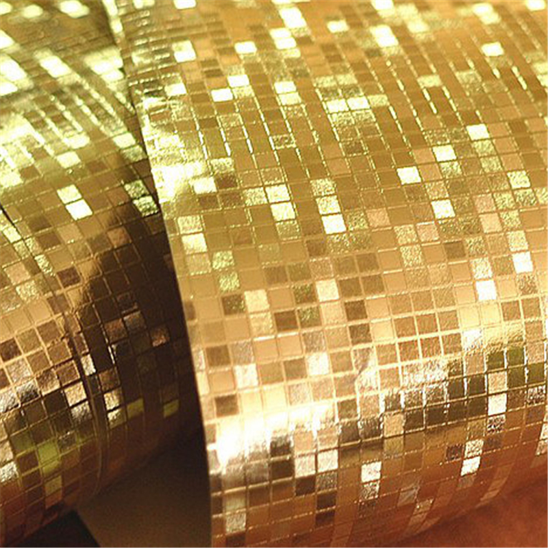 Beibehang glitter mosaic wallpaper background 3d wallpaper for Gold 3d wallpaper
