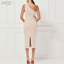 Bandage Dress Women New Arrival 2018 Spring Party Dress Casual Red Black Apricot One shoulder Tassel Celebrity Runway Vestidos