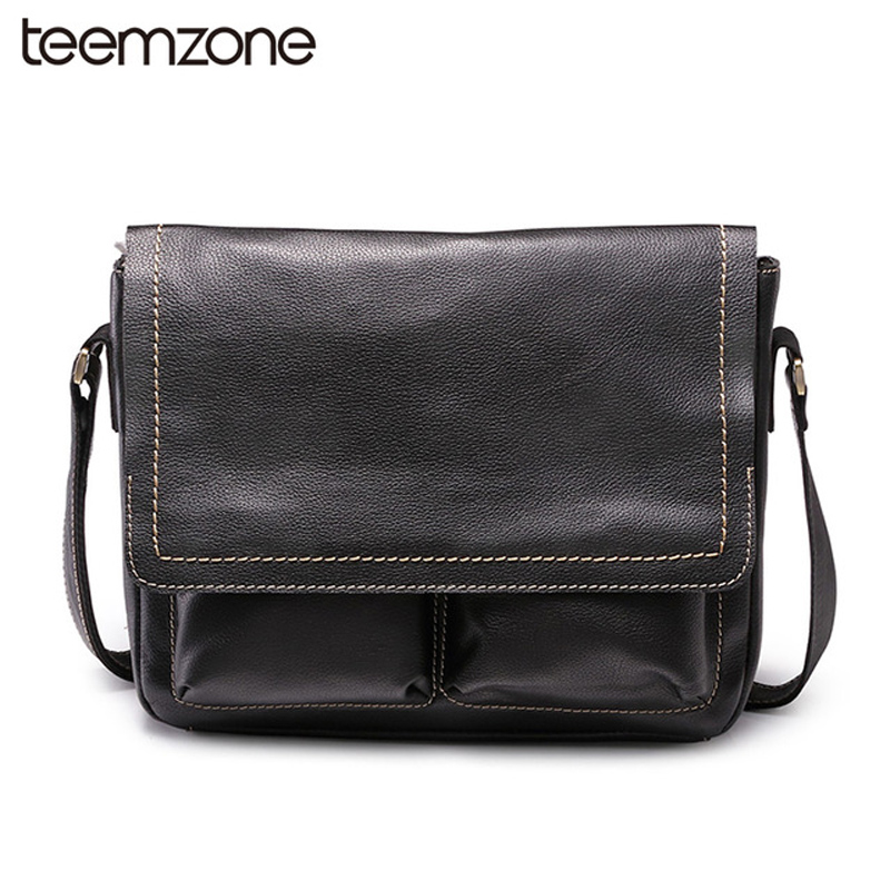 Famous Brand Genuine Leather Man Messenger Bag Laptop Black Shoulder Bags For Men Casual Travel Crossbody Bag Cow Leather J20