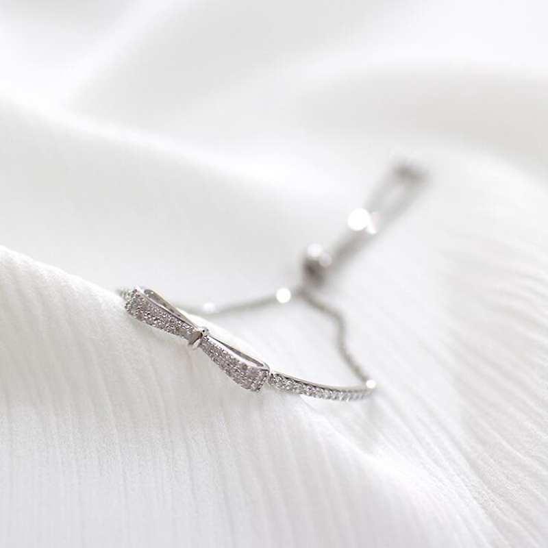HTB17928EH1YBuNjSszhq6AUsFXaE Ruifan Fashion Box Chain Bowknot 100% 925 Sterling Silver Bracelet Ladies Cubic Zircon Bracelets Female Women's Jewelry YBR057