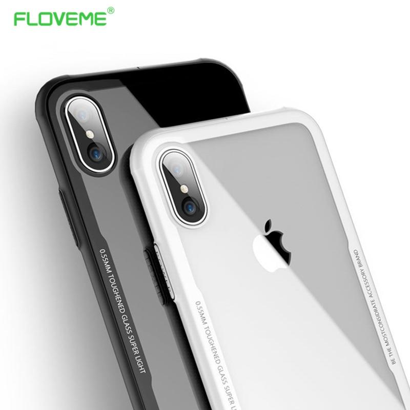 FLOVEME Telefonkasten Für iPhone X 7 7 Plus Silikon Weiche Rahmen ...