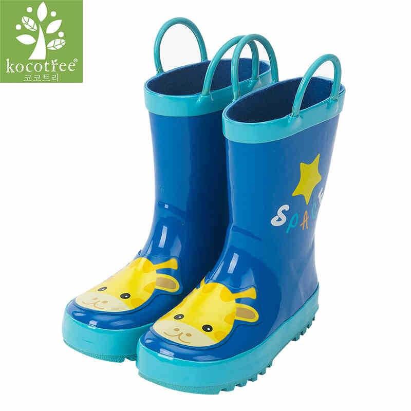 Kocotree Girl Rain Boots 2018 Toddler Boys Giraffe Pattern Design Boots Children Boy Waterproof Shoes Kids