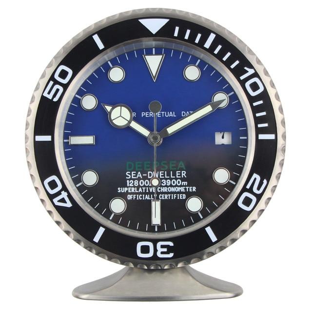 2019 nouvelle arrivee montre sape table horloge de luxe en metal horloge murale avec lumineux caracteristiques