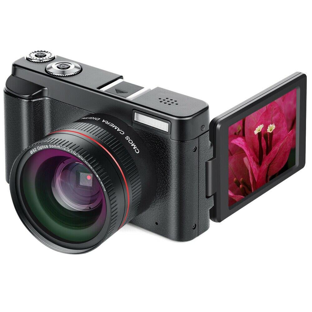 WiFi écran rabattable WIFI grand Angle objectif Full HD 1080 P 24MP 16X Zoom appareil photo numérique