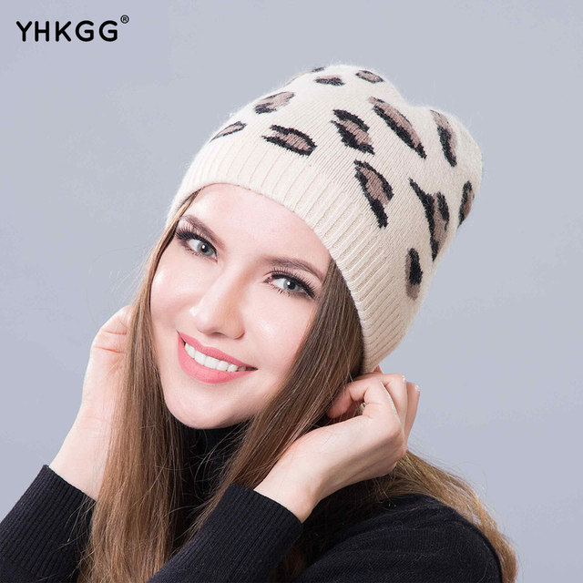 2016 Fashion hat wool hat The latest fashion, warm, beautiful, with the animals of the spots