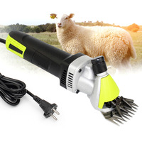 Высокоскоростная 350 Вт электрическая для стрижки овец машинка для стрижки 6 скоростей регулируемые ножницы Коза триммер для удаления волос