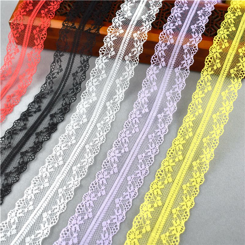 Hot 10yards 45mm wide Handicrafts embroidery lace mesh belt clothing decorative