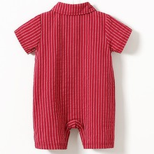 Kids Baby Boy Striped Short Sleeve Clothes 0-24M
