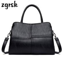 Brand Bags For Women Vintage Solid Ladies Tote Shoulder Handbag Casual PU Leather Satchel Messenger Bag Womens Large Handbags
