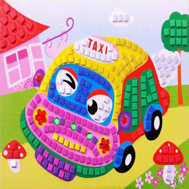 1pc 3D pianki modelu budynku Montessori dzieci rozwoju zabawki edukacyjne dla dzieci gry mozaiki lepkie bloki sztuki DIY zabawki