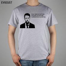 Fight Club Quote Edward Harrison Norton T-shirt Top Lycra Cotton Men T shirt