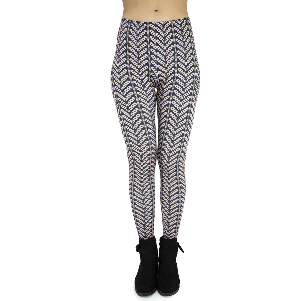 New Arrivals Hot Black And White Stri Printing Sexy Elastic Leggings Workout Legging Stretch Slim Pants