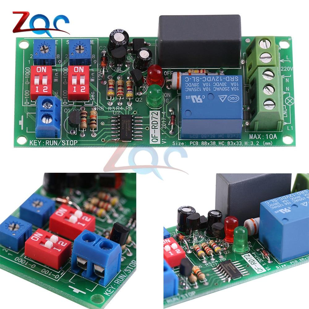 Hot Sale Dual Time Adjustable Cycle Delay Timing Relay Repeat On Off 3pcs Dc 12v Timer Module Turn Switch Infinite Loop Ac 100v 110v 120v 220v 230v 240v