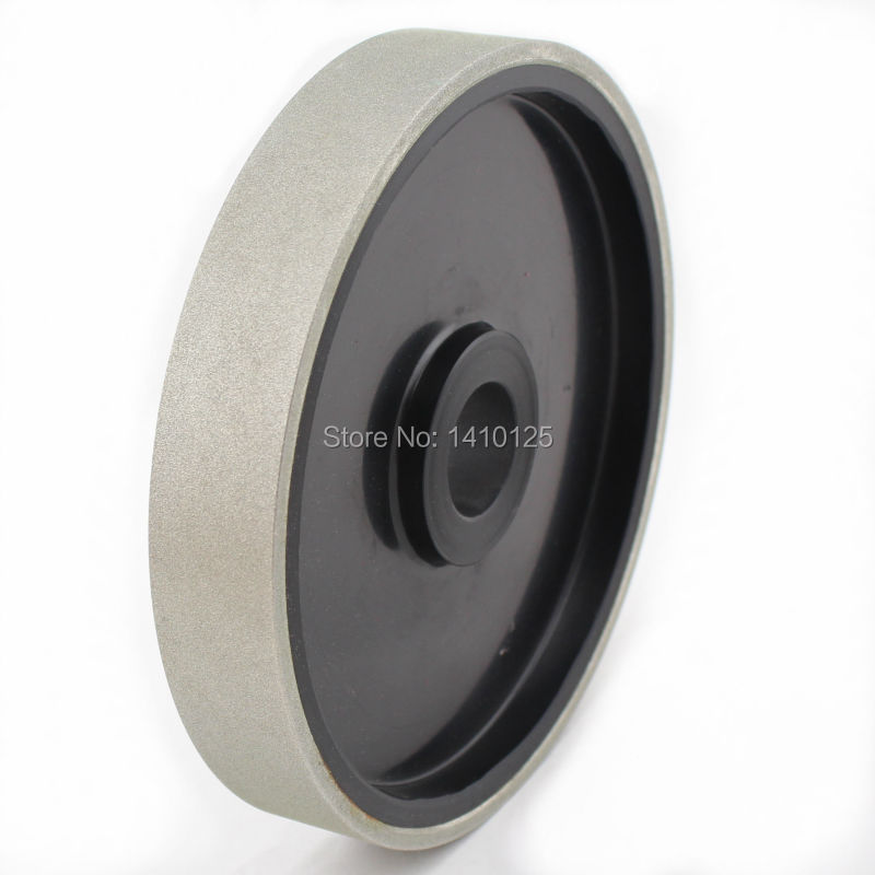6 inch Grit 240 Medium Lapidary Diamond Coated Cabbing Grinding Wheel Electroplated With Bushing Arbor 1 3/4 5/8 1/2 Gems 6 inch lapidary concave arc diamond coated grinding wheel grind spherical 6 mm ilovetool