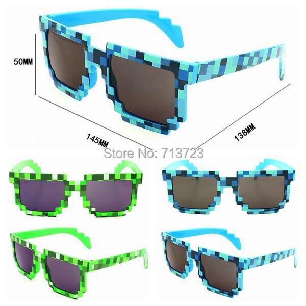 27df64a57f Minecraft Creeper Sunglasses Glasses Knickknack JJ Mosaic Glasses Minecraft  Sun Glasses Green Blue Sun Glasses for Women