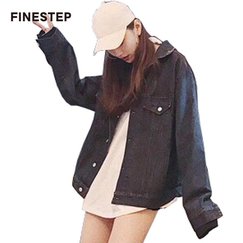 Джинсовая куртка 2018 Для женщин осень весна роскошные женские куртка высокое качество длинный синий Джинсовое пальто