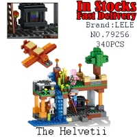 LELE Helvetii My World Minecraft Model Kits Action Anime Figures Building Blocks Bricks Fun Toys For