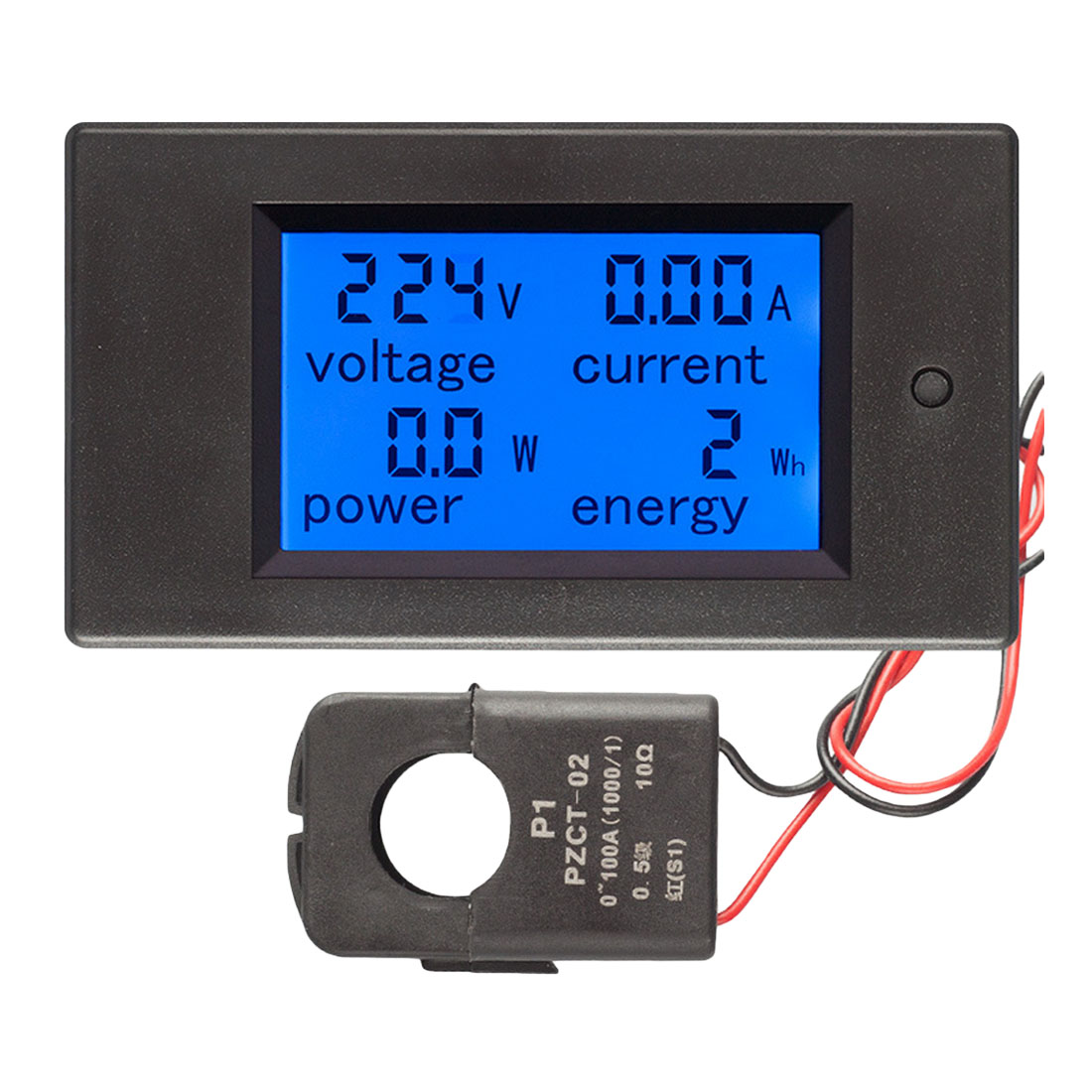 AC Voltage Meters Power Energy Voltmeter Ammeter Watt Current Amps Volt Meter LCD Panel Monitor 100A/80~260V Digital