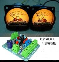 Free Shipping! Audio level meter VU header power meter suit 2 meters+ 1 driver board