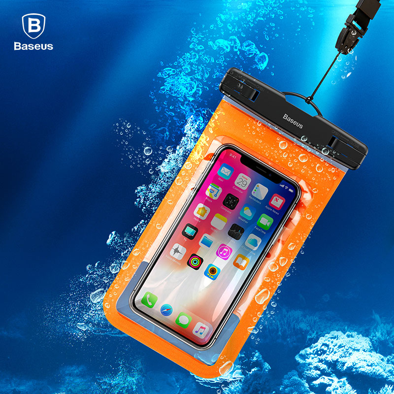 Baseus Universal Waterproof Bag 6 Inch IPX8 Water Proof Phone Case For iPhone X 8 Plus 7 Samsung S9 S8 Swimming Pouch Bag Cover