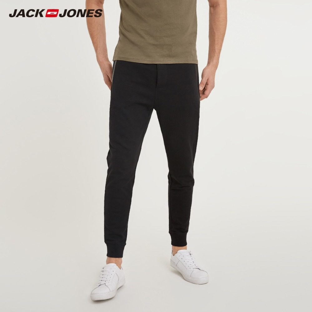 JackJones männer Stretch Jogger Hosen mit Zipper Taschen herren Slim Fit Jogginghose männer Fitness Hose 2019 Frühling 218114577