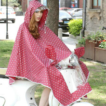 2015 Fashion EVA Polka Dots Raincoat Electric Bicycle Bike RainSuit Women Winter Cloak Female Outdoors Rain Ponchos Chubasquero