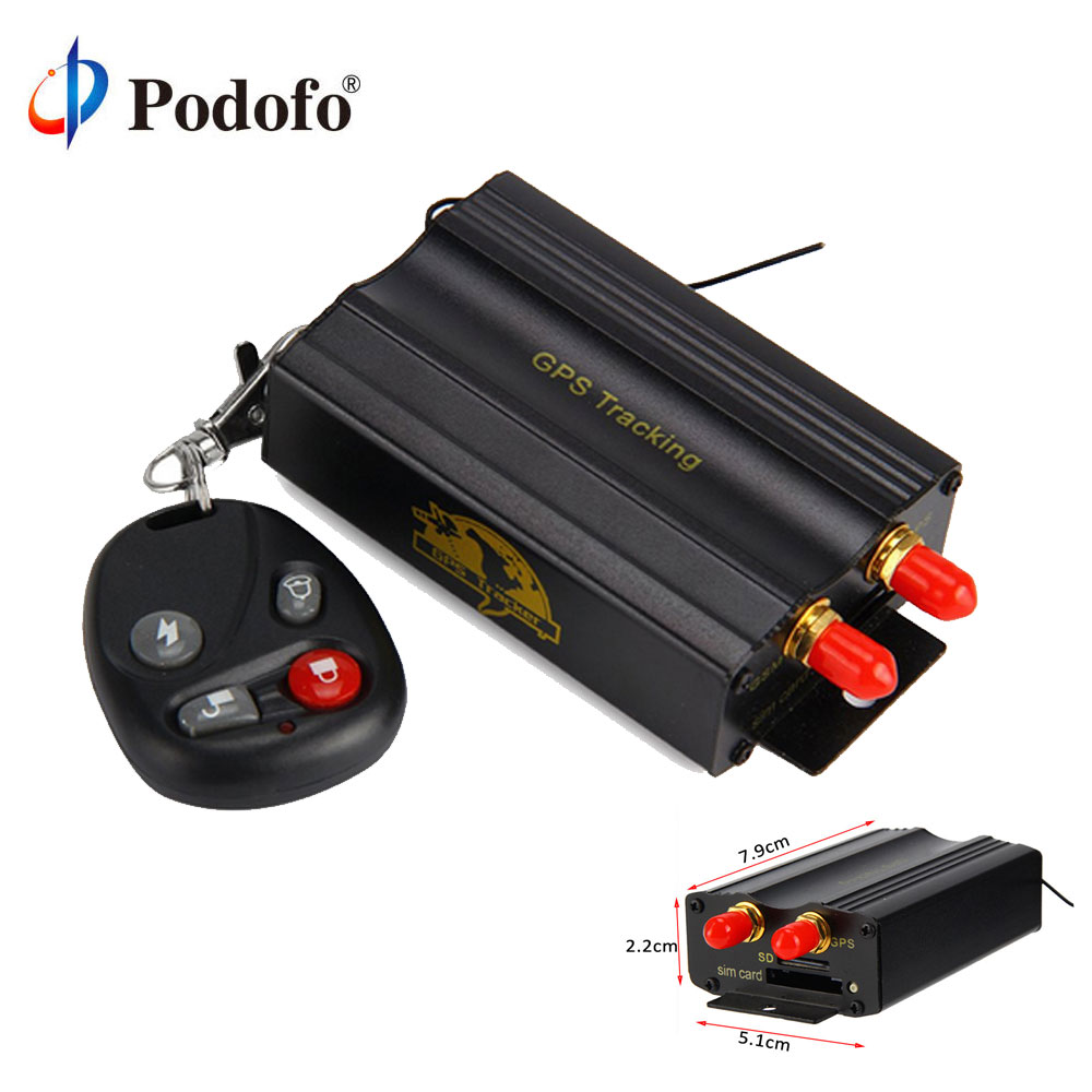 Podofo TK103B voiture GPS Tracker GPS GSM GPRS véhicule voiture en temps réel Anti-vol alarme localisateur dispositif de suivi avec télécommande