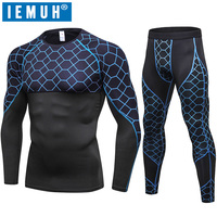 IEMUH New Long Johns Winter Thermal Underwear Sets Men Quick Dry Anti microbial Stretch Men's Thermo Underwear Male Warm Fitness