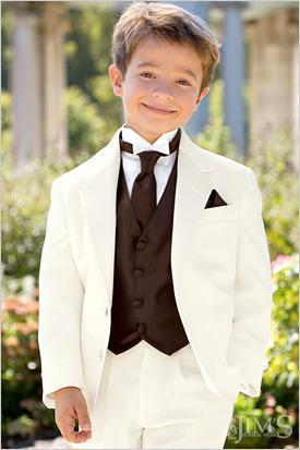 e3ca5695b756 Ivory Boys Formal Occasion Tuxedos Kid Birthday Party Suits Prom ...