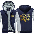 Thrasher Men Hoodies Winter Fleece Skateboard Thicken Zipper Hip Hop Sweatshirts USA size Plus size