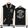 2016 New Winter Plus Thick Velvet Collar Cardigan Baseball Uniform Jacket For Men And Women Jackets Sons Of Anarchy Soa19 AA