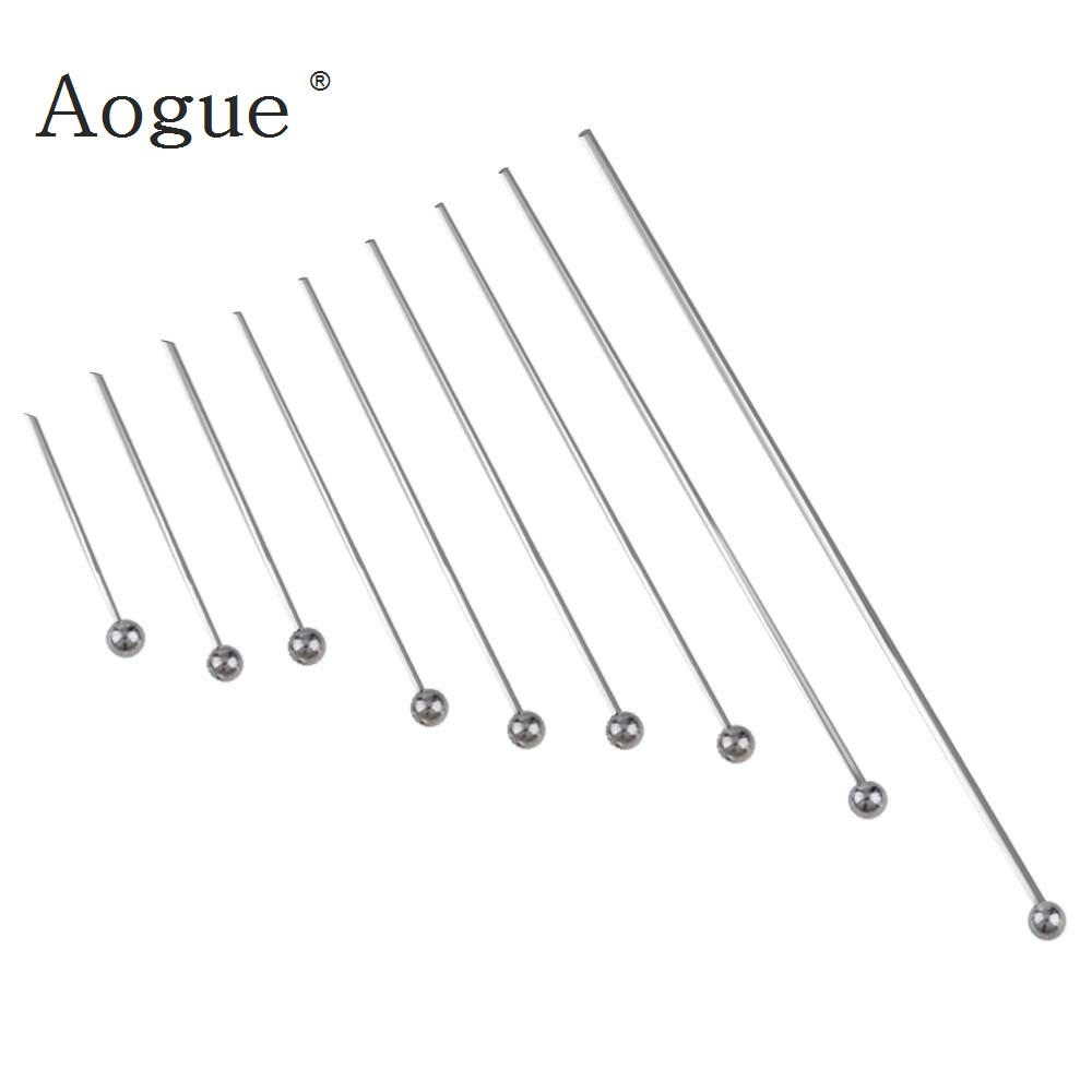 Stainless Steel Ball Head Pins Bright Silver Tone For Diy Fashion Fine Jewelry Findings Accessories