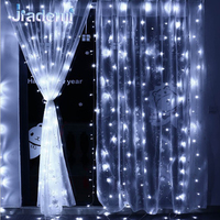 Jiaderui 300 LED 4 5M X 3M Garlands Curtain Strip Party Lights Room Outdoor Festivel Decorative
