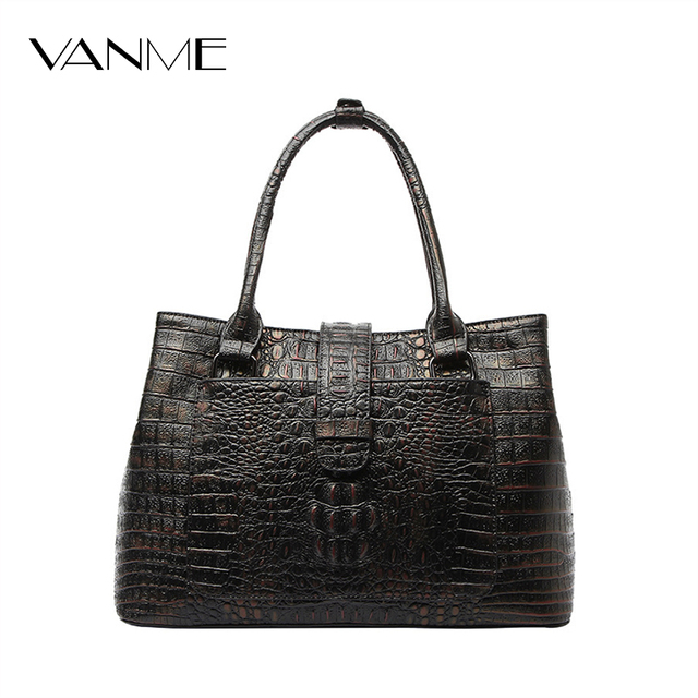 6a0f22faf772 Luxury Split Leather Crocodile Pattern Handbags CrossBody Shoulder Bolsa  Feminina Dollar Shop Online Handbags Fashion Lady Bag