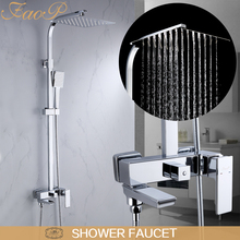 FAOP shower faucets chrome mixer faucet for bathroom set waterfall system ducha