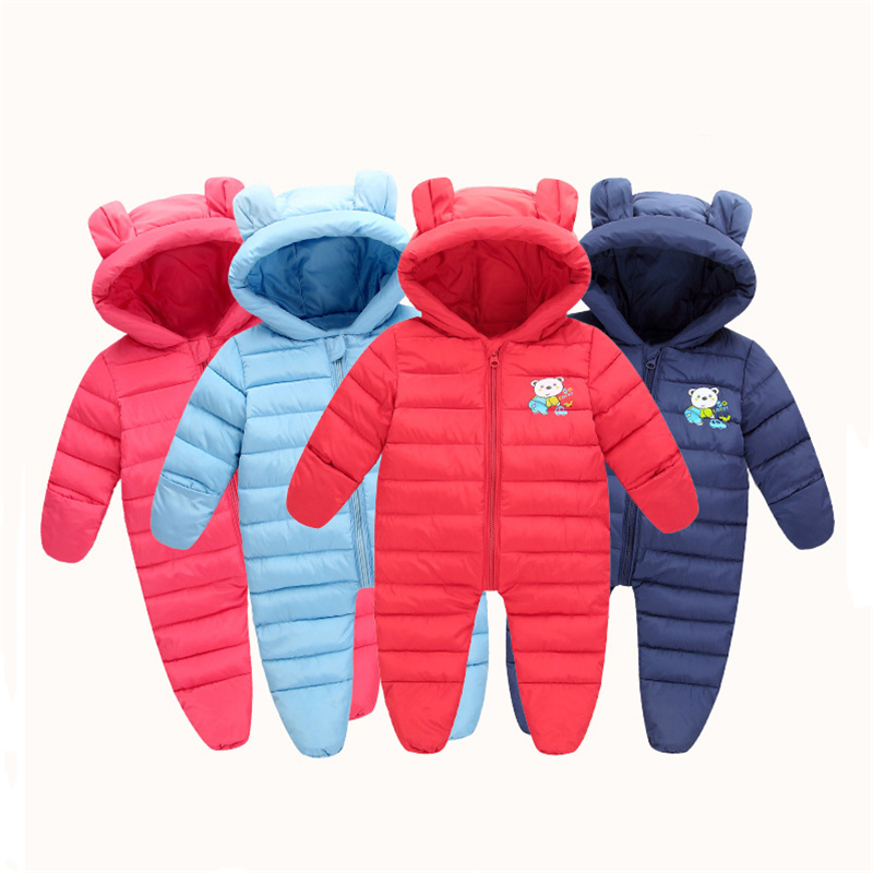 Baby   Rompers   Newborn Baby Girls Clothes Set Cute 3D Bear Ear Jumpsuit Baby Boys Clothes Set Autumn Winter Warm Bebe Clothing Set