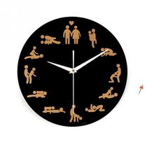 2016 New Creative Sex Pattern Wall Clock Sex Position Clock Novelty Wall Clock Home Decoration