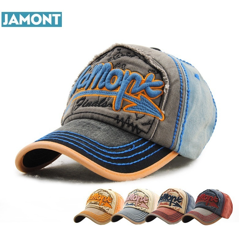 JAMONT 2017 Fast ball cap snap pass cotton polo hat baseball cap vintage washed combed snapback hat for men and women shipping ...
