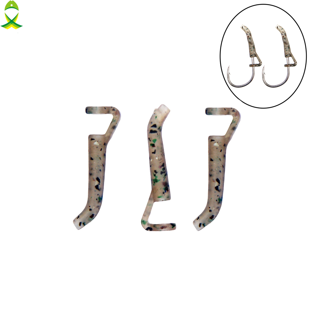 JSM 30pcs/lot Fishing Hook Sleeve Tube Hair Rig Aligner Sleeves Soft Anti Tangle Positioner Terminal Tackle Carp Accessories