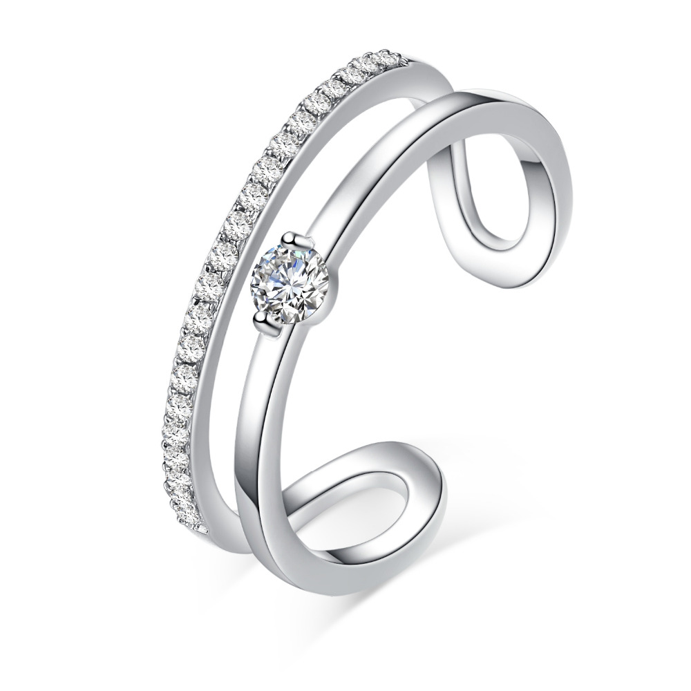 Double Row Diamond Wedding Band double wedding band